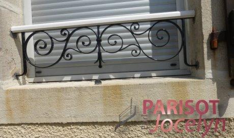 Barre d'appuis de fenêtre fer forgé sur mesure, Vesoul, Métallerie PARISOT Jocelyn