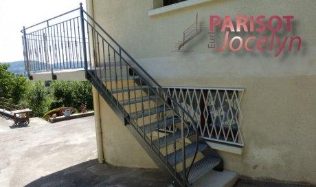 Garde corps escalier extérieur avec ces balustres fer forger sur-mesure, à Frotey-lès-Vesoul, Métallerie PARISOT Jocelyn