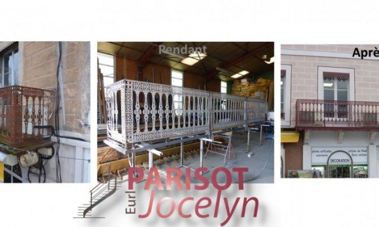 Restauration balcons extérieur, garde corps ancien en fonte sur Vesoul, Métallerie PARISOT Jocelyn