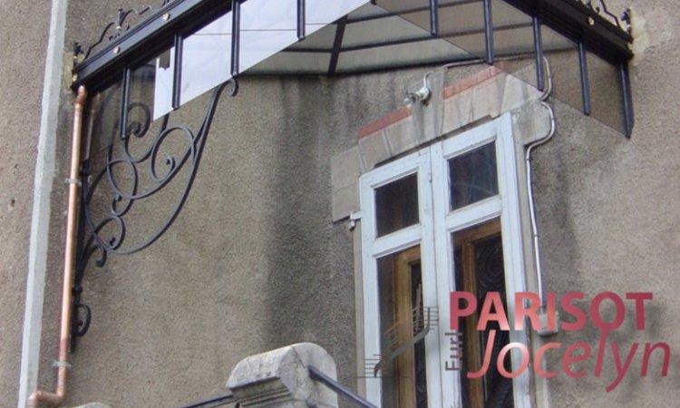 Rénovation d'une marquise fer forgé à Vesoul, Métallerie PARISOT Jocelyn Vesoul