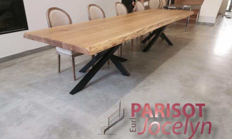 Création pieds de table mikado sur mesure sur Vesoul,  Métallerie PARISOT Jocelyn
