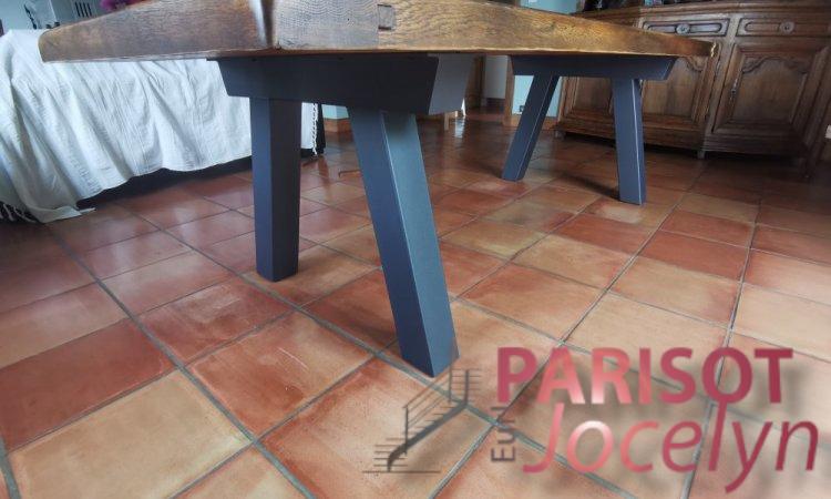 Pieds de table en tube carré sur mesure sur Vesoul,  Métallerie PARISOT Jocelyn