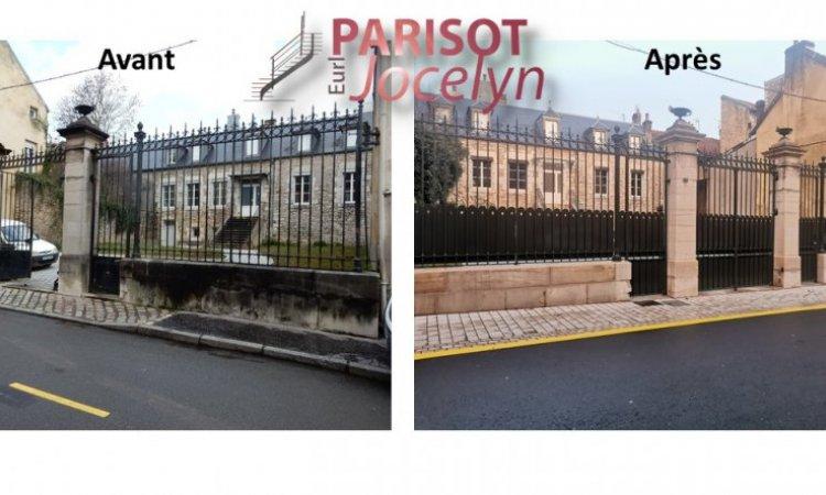 Rénovation d'un portail fer forgé, à Vesoul, Métallerie PARISOT Jocelyn