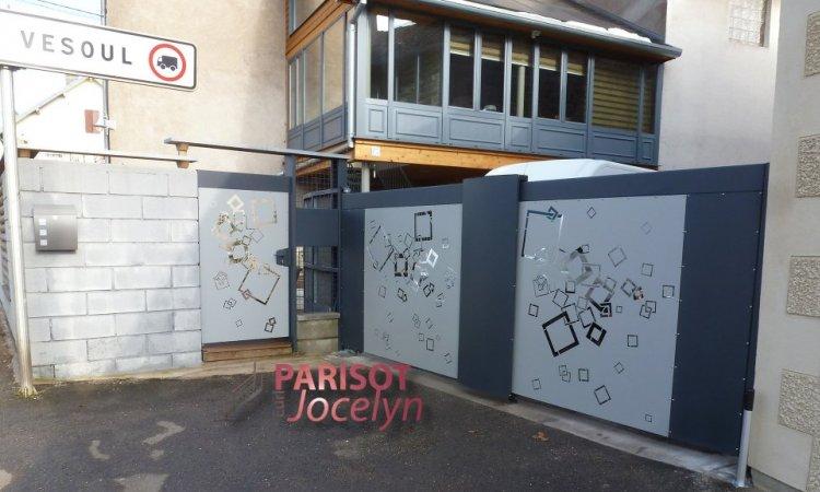 Portails et portillons en tôles découper personnalisé selon vos gouts et vos envies , à Frotey-lès-Vesoul, Métallerie PARISOT Jocelyn Vesoul