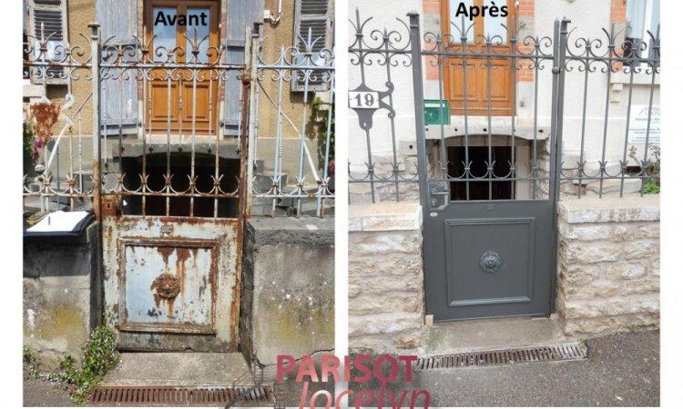 Rénovation d'un portillon fer forgé pour remise en état, à Vesoul, Métallerie PARISOT Jocelyn