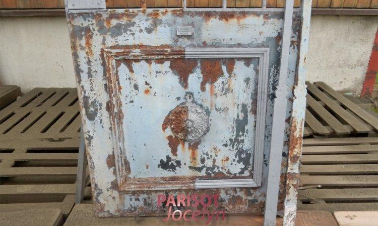 Rénovation portillon fer forgé avant et après le sablage, Vesoul, Métallerie PARISOT Jocelyn